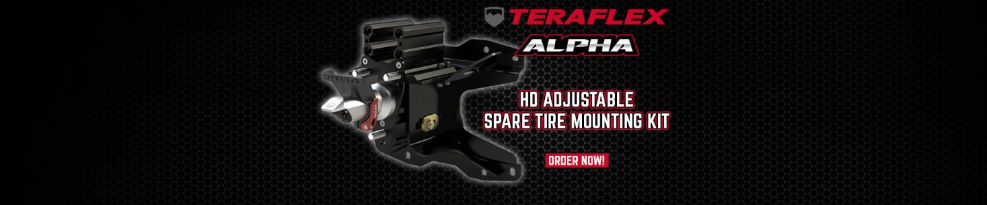 "JL: Alpha HD Adjustable Spare Tire Mounting Kit (Complete) - 5x5"" 2"