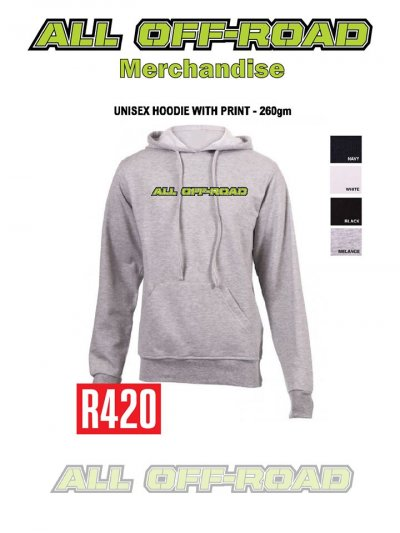 Unisex hoodie with print - 260gm