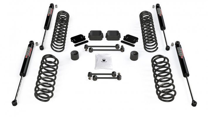 "JL 4dr: 2.5"" Coil Spring Base Lift Kit & 9550 VSS Twin-Tube Shocks"