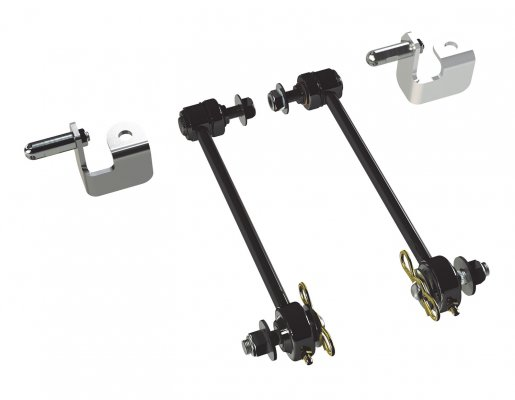 "JK: Front Sway Bar Quick Disconnect Kit (0-2.5"" Lift) (3""-4"") (4""-6"")"